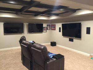 image on page for   / perceived to contain Electronics Entertainment Center Home Theater Basement Room Office